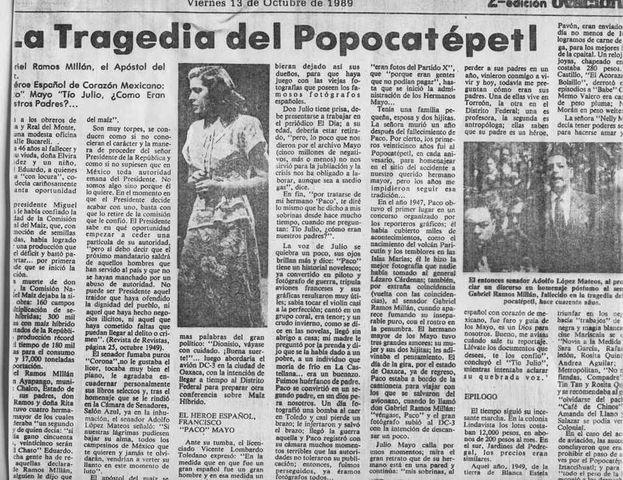 """Reportaje en el periódico Ovaciones """"Tragedia en el ..."""